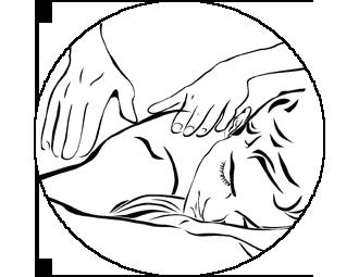 icono masaje junio bn